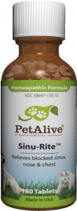 PetAlive Sinu-Rite รักษาไซนัสอักเสบ โรคระบบทางเดินหายใจ ไอจาม น้ำมูกไหล แน่นจมูก (แบ่งขาย 50 เม็ด)
