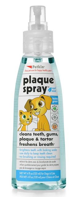 Plaque Spray Cool Mint สเปรย์ขจัดกลิ่นปาก หอมกลิ่นมิ้นท์ ป้องกันหินปูน USA สุนัข-แมว 120 ml