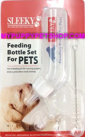 Feeding Bottle set for Pets  ชุดขวดนมคอโค้ง สำหรับลูกสุนัขและสัตว์เลี้ยงอื่นๆ