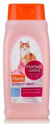 แชมพูแมว Hartz Groomer Best Hairball Control สูตรบำรุงขนสวย แก้ขนร่วง ลดการเกิดก้อนขน USA