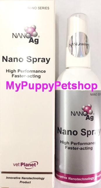 Nano Spray สเปรย์รักษาแผลทุกชนิดในสัตว์เลี้ยง ออกฤทธิ์เร็วไม่ระคายเคือง 50 ml (ขวดใหญ่)