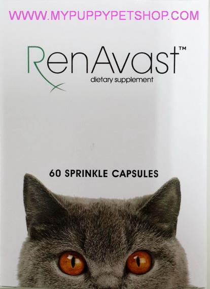 RenAvast CAT วิตามินบำรุงแมว ป่วยโรคไต ไตเสื่อม ค่าไตขึ้น บำรุงระดับเซลล์  (60 แคปซูล)