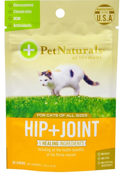 Pet Naturals Hip+Joint CAT (30Chews) วิตามินบำรุงข้อต่อ ข้อกระดูก สะโพก ป้องกันโรคข้อแมว 30 ชิ้น