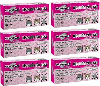 Frontguard Plus CAT ( 6 หลอด) ฟรอนท์การ์ด พลัส แมว ยากำจัดเห็บและหมัด สำหรับแมว