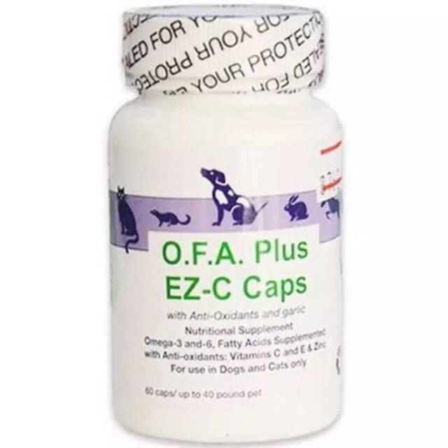 EicosaCaps (O.F.A. Plus)  สำหรับสุนัขและแมว น้ำหนักไม่เกิน 14 Kg. บำรุงขนสูตรเข้มข้น 60 เม็ด