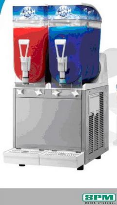 เครื่องผลิตน้ำหวานชนิดเกล็ดน้ำแข็งแบบไม่มีก๊าซSLUSH MACHINE ของSPM รุ่นID-2.2 ส่งฟรีถึงที่ทั่วประเทศ