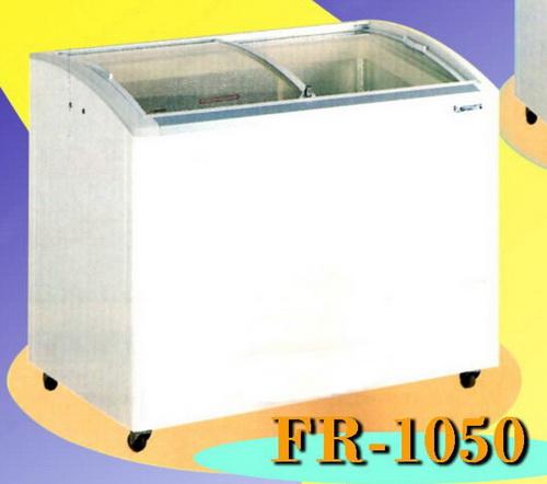 ตู้แช่แข็ง กระจกนิรภัยบานเลื่อน โค้งอย่างสวย ยี่ห้อฟรีสเซอร์ FRESER รุ่น FR-1050 ส่งฟรีถึงที่ทั่วปท.