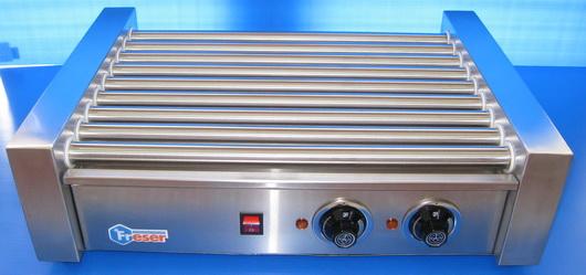ROLLER HOTDOG WARMERเครื่องกริลไส้กรอกแกนสเตนเลส(stainless) 9แกน ของฟรีสเซอร์ FRESERรุ่น RG-9 ส่งฟรี