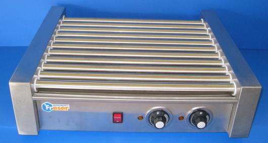 ROLLER HOTDOG WARMER เครื่องกริลไส้กรอกแกนสเตนเลส(stainless)11แกน ของฟรีสเซอร์FRESER รุ่นRG-11ส่งฟรี