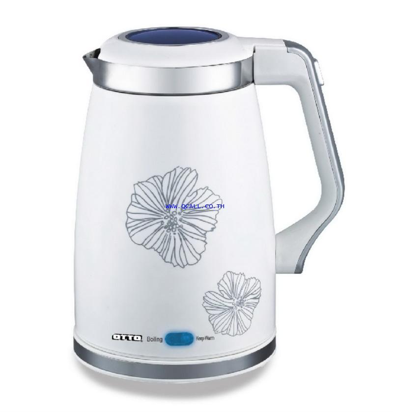 กาต้มน้ำไร้สาย 1.5ลิตร ภายในสเตนเลส OTTO ออตโต้ รุ่นPT-106 เสียงเตือนน้ำแห้ง ส่งฟรีถึงที่ทั่วประเทศ