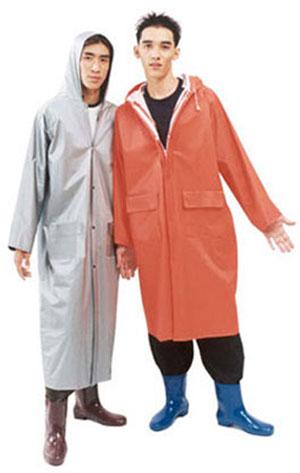 เสื้อกันฝนผู้ใหญ่ ชุดเสื้อโค้ทยาว ผ้า 2 หน้าอย่างดี 30-RG015
