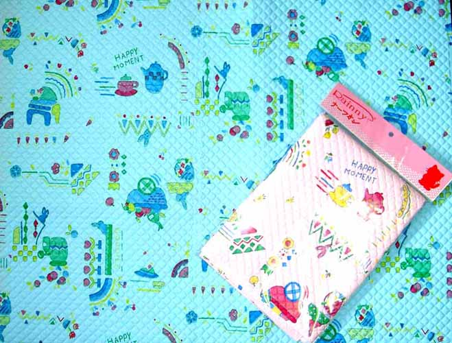 ผ้าพลาสติกปูรองที่นอนเด็ก แบบญี่ปุ่นใหญ่