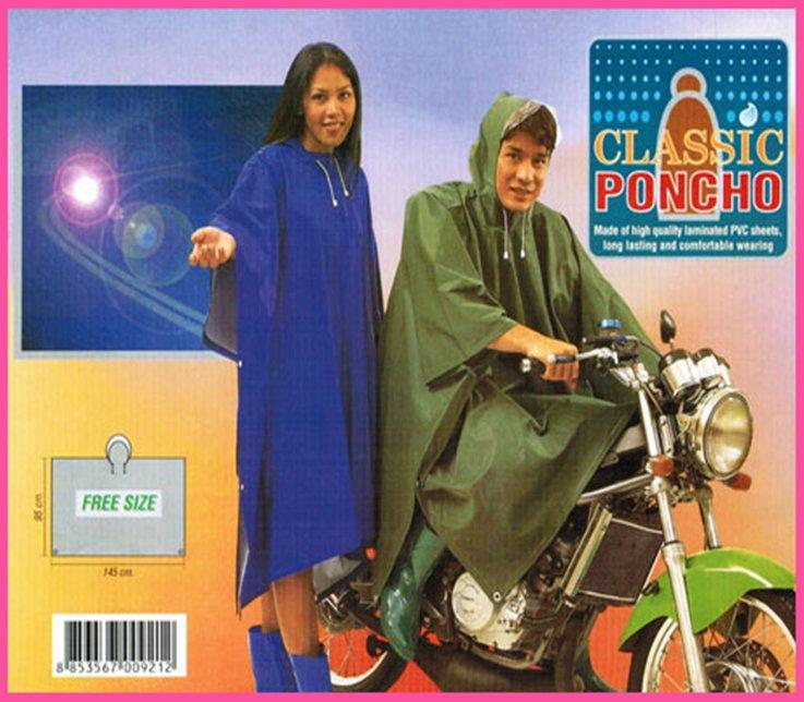 เสื้อกันฝนผู้ใหญ่ ปันโจ ผ้า 2 หน้าอย่างดี แบบค้างคาว รุ่น 30-RG007/4