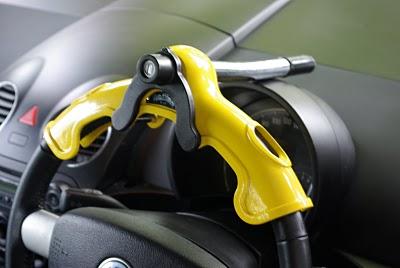 Model: W -05 สีเเหลือง อุปกรณ์ล็อคพวงมาลัยรถยนต์