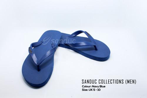 Sanduc Casual Men Flip Flops Slipper Sandal (Navy Blue)