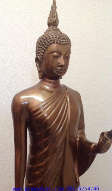 พระบูชา พระพุทธรูปปางลีลา พิมพ์กลาง ขนาด 9 นิ้ว