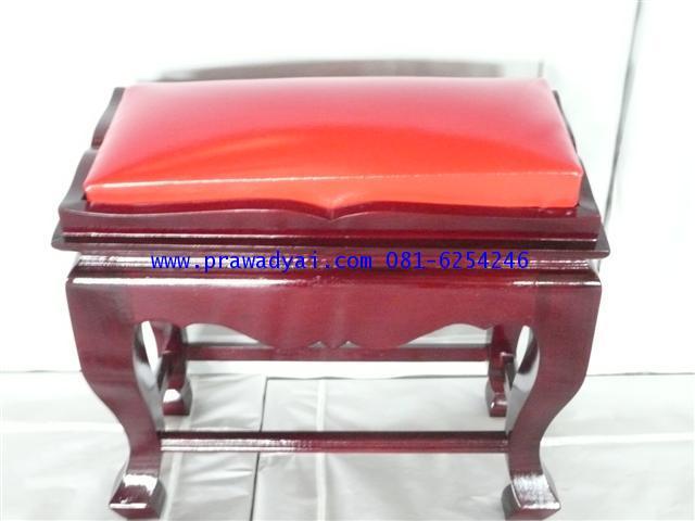 โต๊ะกราบพระ หน้า 8 สีโอ๊ค เบาะแดง