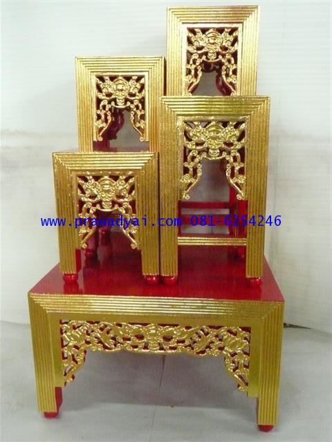 โต๊ะงานพิธี หน้า 10 แกะลาย ปิดทอง