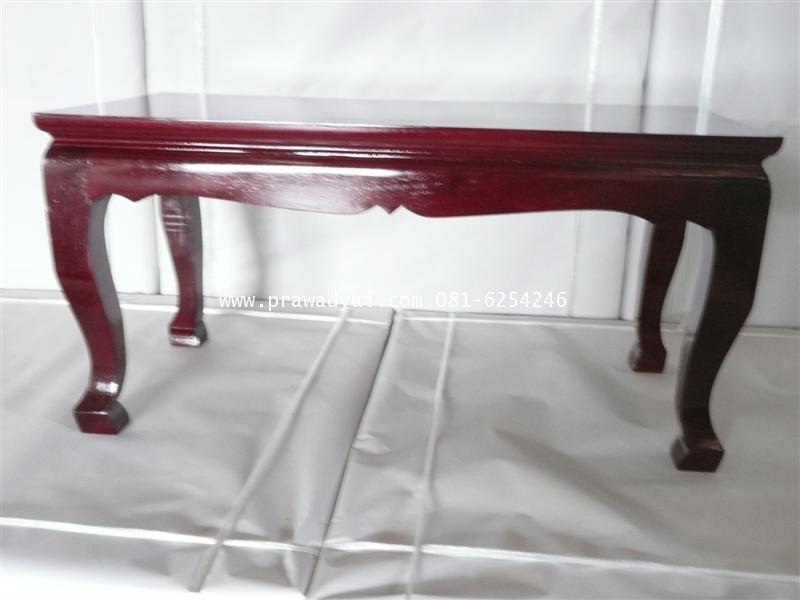 โต๊ะบูชา โต๊ะถวายข้าวพระ ทรงขาสูง สีโอ็ก