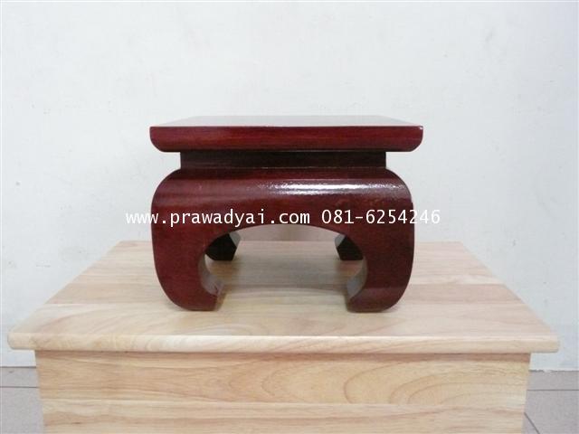 โต๊ะบูชาเดี่ยว ขาคู้ 8x8 นิ้ว สีโอ็ก