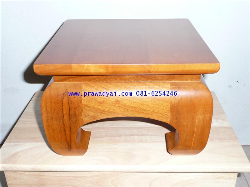 โต๊ะบูชาเดี่ยว ขาคู้ 10x10 นิ้ว สีเนื้อไม้