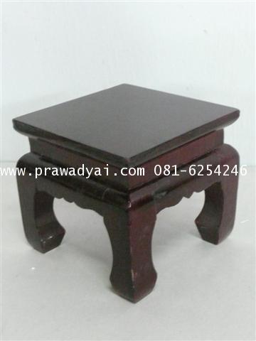 โต๊ะบูชาเดี่ยว ขาตรง 6x6 นิ้ว สีโอ็ก