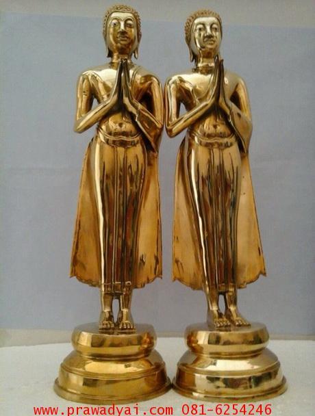 พระอัครสาวก พระโมคคัลลานะ พระสารีบุตร ปิดทอง