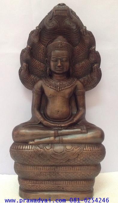 พระบูชา พระนาคปรก หลวงพ่อศิลา ขนาด 7 นิ้ว