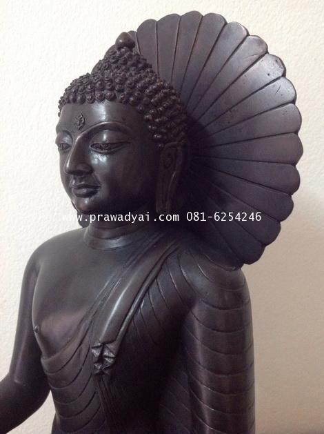 พระบูชา พระพุทธเมตตา หน้าตัก 9 นิ้ว รมดำ