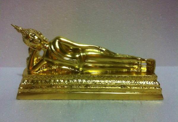 พระบูชา พระประจำวันอังคาร ปางไสยาสน์ ขนาด 3 นิ้ว ปิดทองแท้