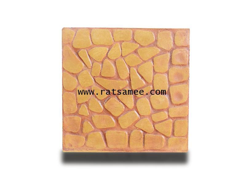 แผ่นปูพื้นลายกรวดจีนเหลือง 40*40 ซม.