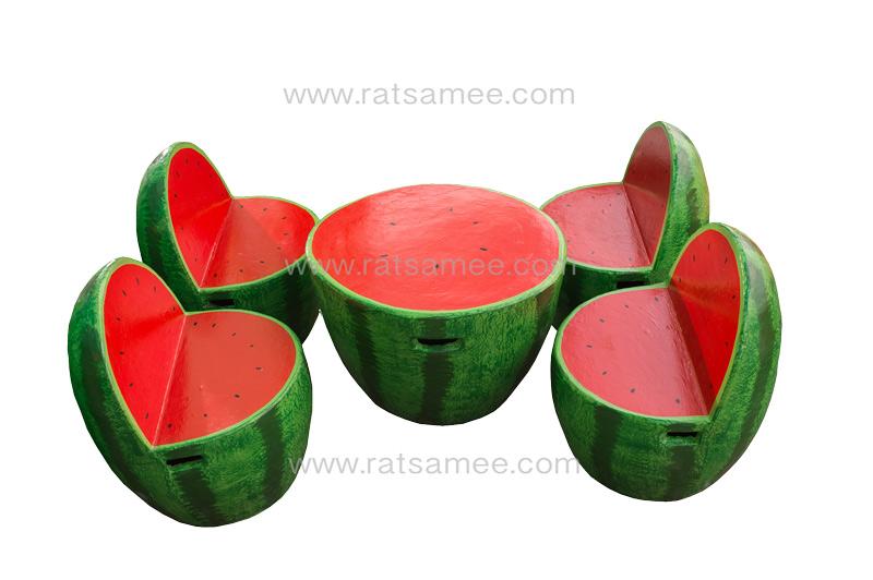 ชุดผลไม้แตงโมแดง