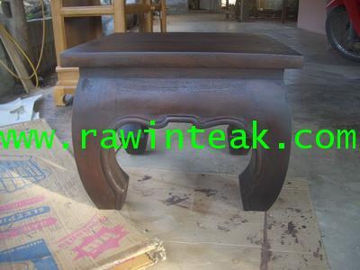 โต๊ะขาคู๊ไม้สักเล็ก