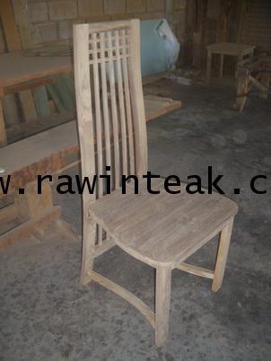จำหน่ายเฟอร์นิเจอร์ไม้สัก เก้าอี้ไม้สัก ลายสก็อต