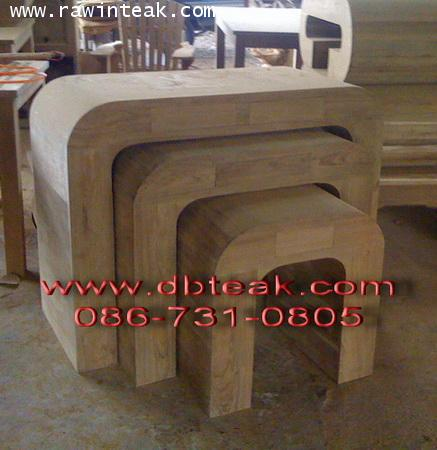 โต๊ะไม้สัก ,ชุดโต๊ะไม้สัก ตัว ยูคว่ำ
