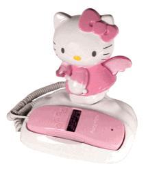 Kitty Angel นางฟ้าโทรศัพท์บ้าน ไฟกระพริบขนาดใหญ่ แสดงเบอร์โทรเข้า