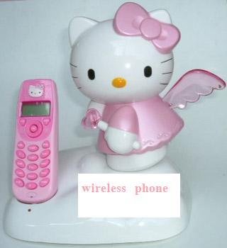 โทรศัพท์นางฟ้าไร้สาย Hello kitty แบบโชว์เบอร์