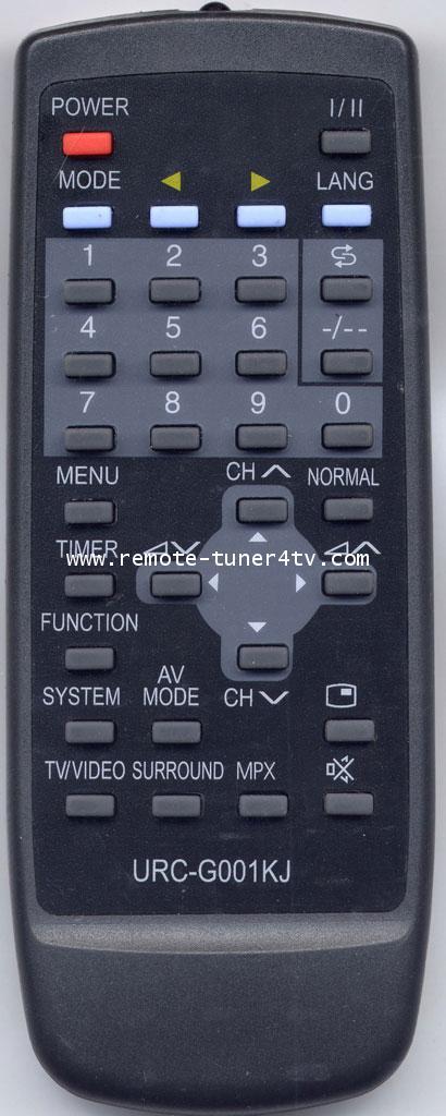 URC-G001KJรวมรุ่น TV-SHARP