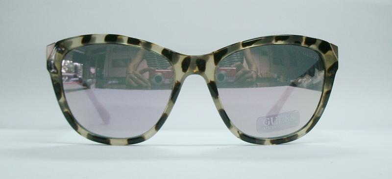 แว่นกันแดด GUESS GU7398 สีน้ำตาลลาย