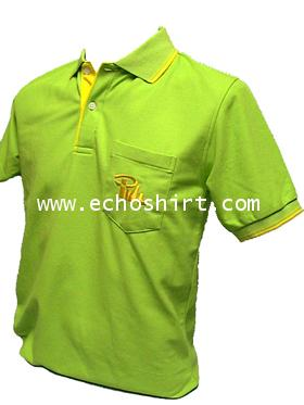 P038 เสื้อโปโลปกทอเส้นขลิบสาบแซมสีเพิ่มกระเป๋า ผลิตเสื้อโปโล โรงงานผลิตเสื้อโปโลครบวงจร เสื้อโปโลสั่