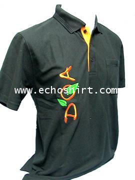 P039 เสื้อโปโลสาบแซมสีแขนจั๊ม  ผลิตเสื้อโปโล โรงงานผลิตเสื้อโปโลครบวงจร เสื้อโปโลสั่งผลิต