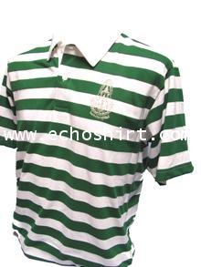 P040 เสื้อโปโลปกผ้าลายทอริ้ว ผลิตเสื้อโปโล โรงงานผลิตเสื้อโปโลครบวงจร เสื้อโปโลสั่งผลิต