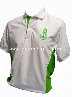 P041 เสื้อโปโลตัดต่อแถบข้างลำตัว ผลิตเสื้อโปโล โรงงานผลิตเสื้อโปโลครบวงจร เสื้อโปโลสั่งผลิต