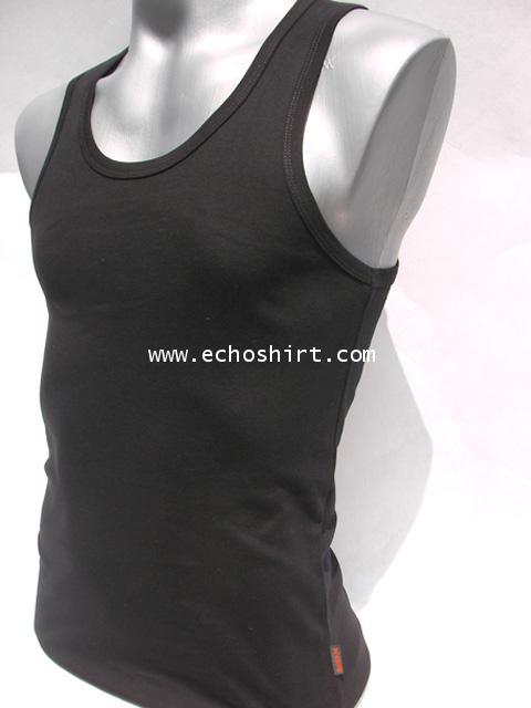 BS003 เสื้อกล้ามเข้ารูปบอดี้ไซด์ cotton 100% ผลิตเสื้อคอกลม โรงงานผลิตเสื้อคอกลมครบวงจร เสื้อคอกลมสั