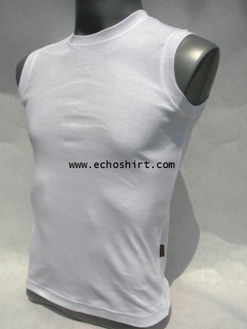 BS004 เสื้อแขนกุดเข้ารูปบอดี้ไซด์ cotton 100% ผลิตเสื้อคอกลม โรงงานผลิตเสื้อคอกลมครบวงจร เสื้อคอกลมส