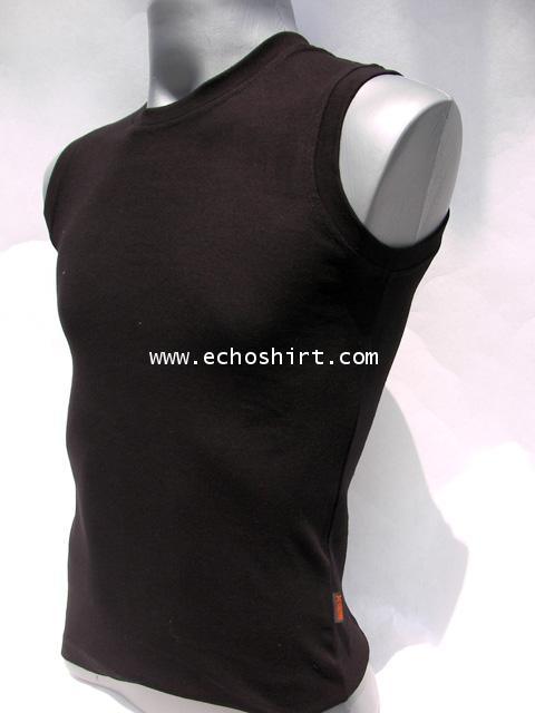 BS006 เสื้อแขนกุดเข้ารูป บอดี้ไซด์ cotton 100% ผลิตเสื้อคอกลม โรงงานผลิตเสื้อคอกลมครบวงจร เสื้อคอกลม