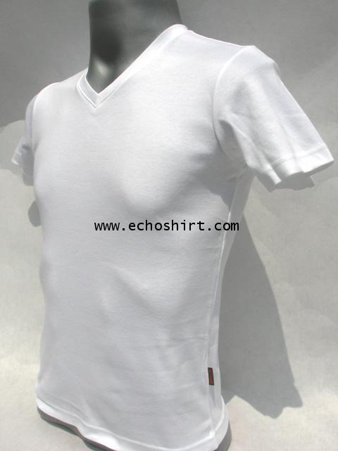 BS010 เสื้อคอวีเข้ารูป บอดี้ไซด์ Cotton 100% ผลิตเสื้อคอกลม โรงงานผลิตเสื้อคอกลมครบวงจร เสื้อคอกลมสั