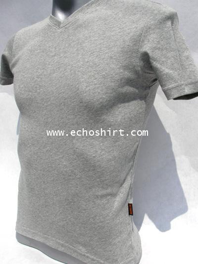 BS011 เสื้อคอวีเข้ารูป บอดี้ไซด์ Cotton 100% ผลิตเสื้อคอกลม โรงงานผลิตเสื้อคอกลมครบวงจร เสื้อคอกลมสั