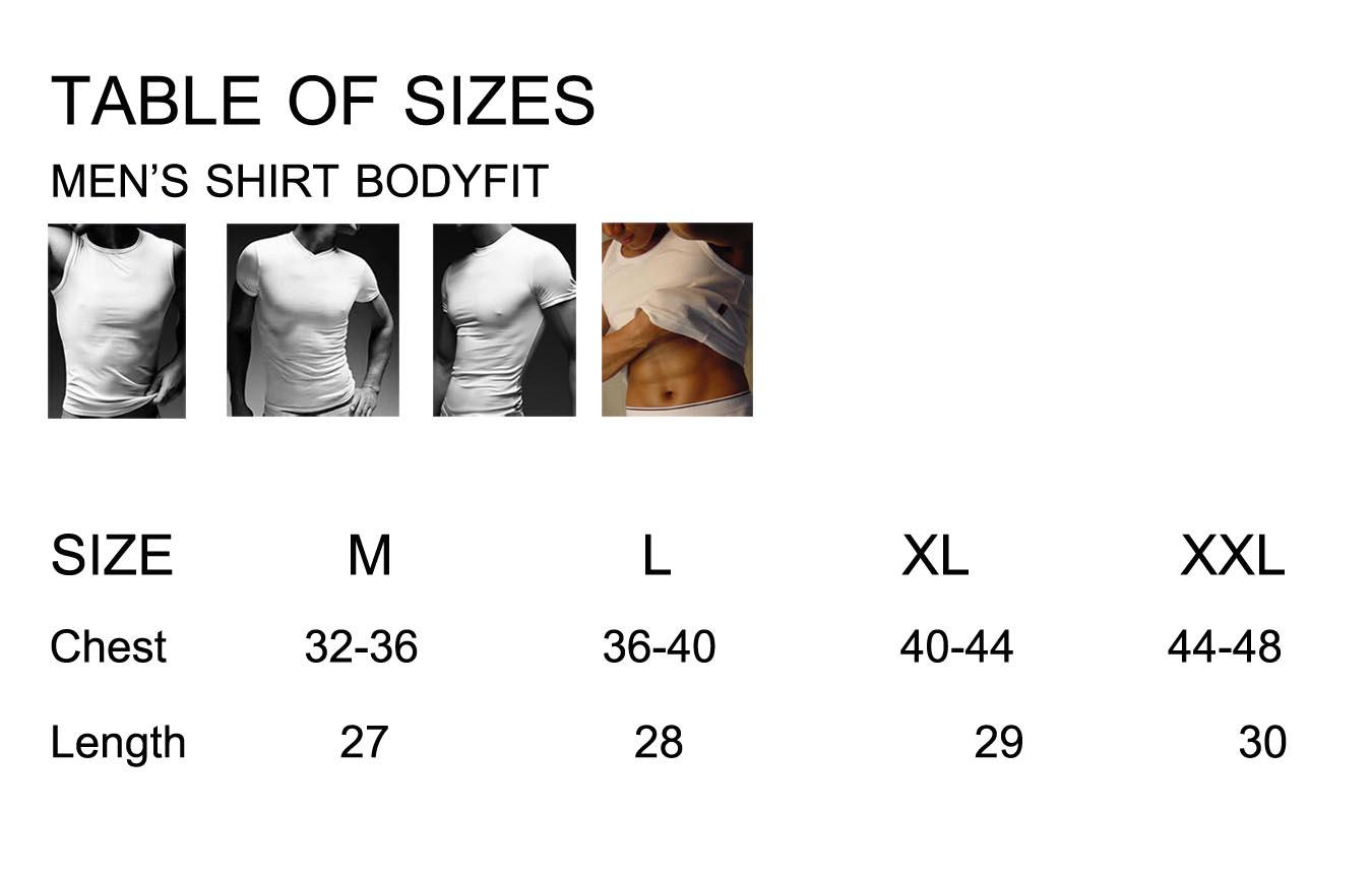 ตารางขนาดเสื้อบอดี้ไซด์ ผลิตเสื้อคอกลม โรงงานผลิตเสื้อคอกลมครบวงจร เสื้อคอกลมสั่งผลิต made to order