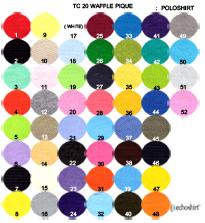 PC003 ตารางสีผ้า TC 20 ลายจูติ เสื้อโปโล ผลิตเสื้อโปโล โรงงานผลิตเสื้อโปโลครบวงจร เสื้อโปโลสั่งผลิต